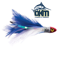 Black Magic Saltwater Chicken Rigged with hook and leader Blue & WhiteBlack Magic Saltwater Chicken Rigged with hook and leader Blue & White